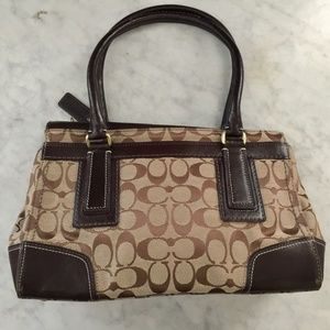 Coach Bags - Authentic Coach Signature Turnlock Shoulder Tote